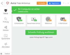 Avira Free Antivirus for Windows Screenshot
