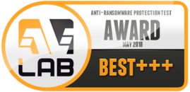 """""""Best+++""""-Auszeichnung für unsere Anti-Ransomware-Sicherheitstechnologie"""